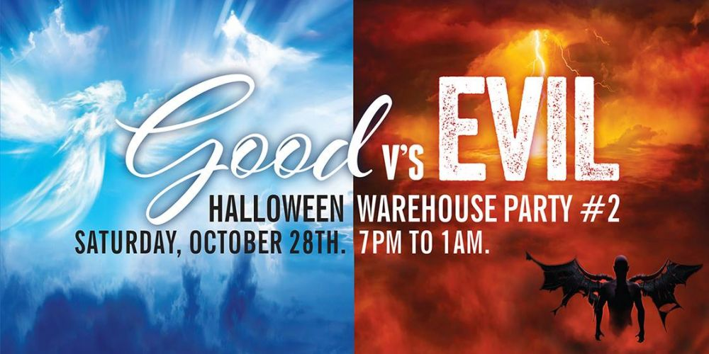 Halloween Warehouse Party Part 2 – Good vs Evil