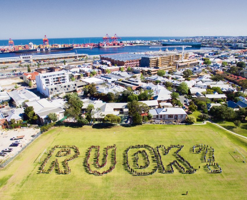 CBC Fremantle students share the RUOK? message.