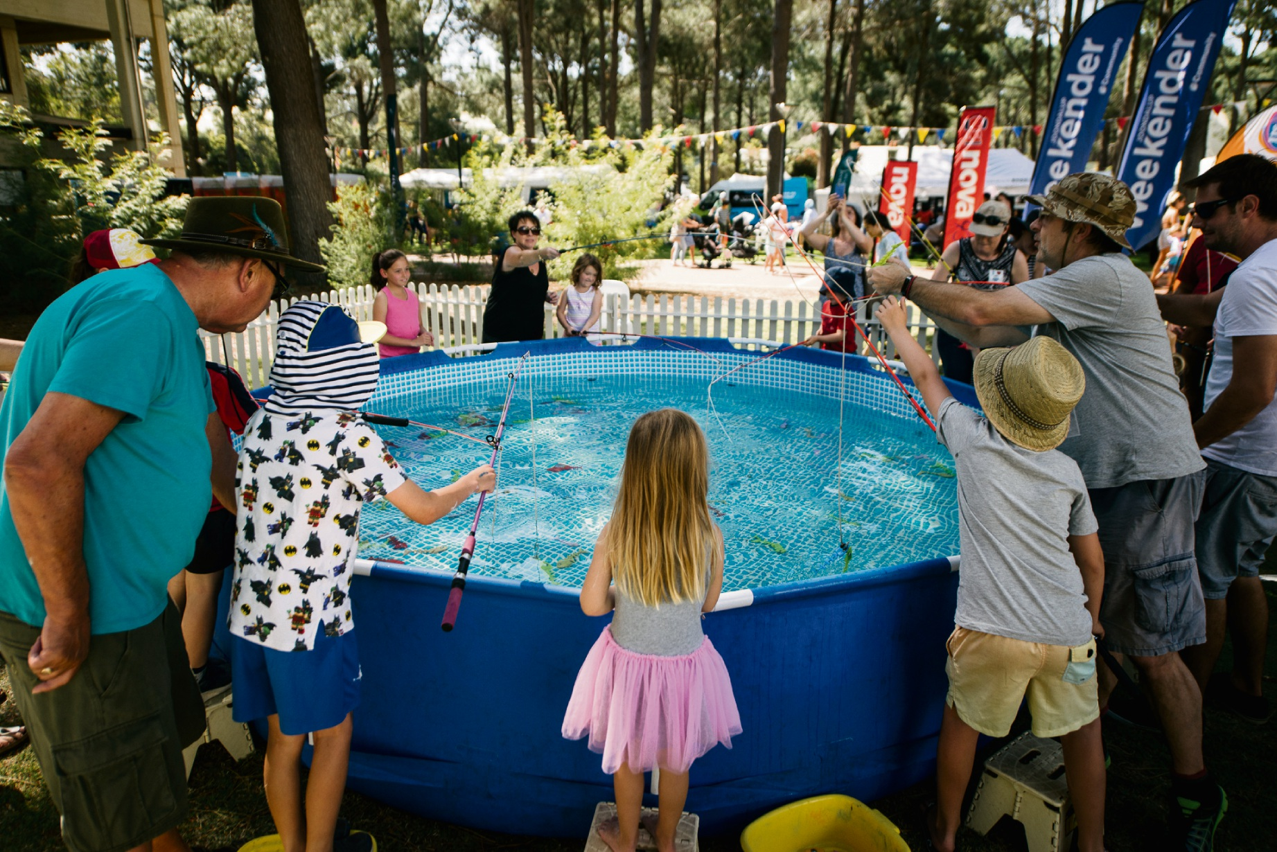 The fishing pond at the City of Joondalup Little Feet Festival at ECU Joondalup.