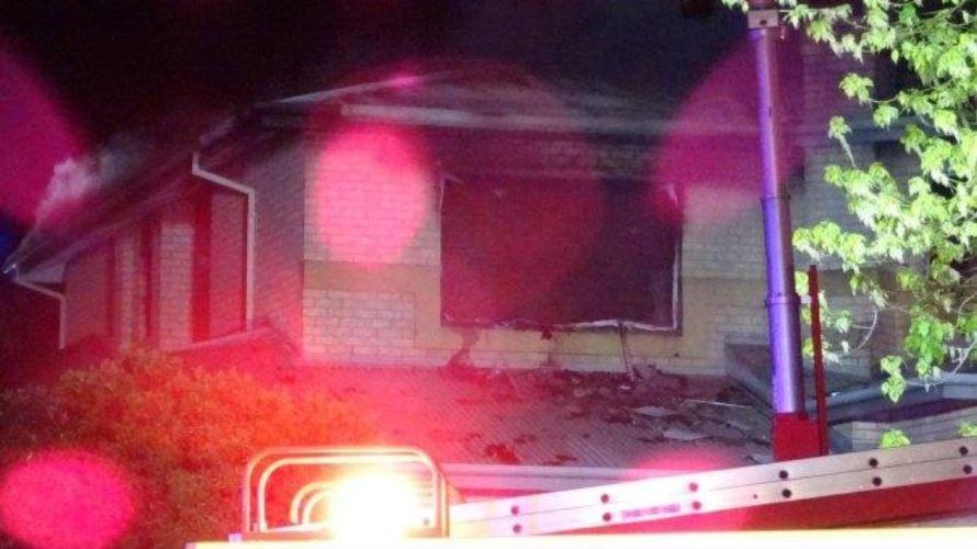 Duncraig house fire. Pic. Sunrise.