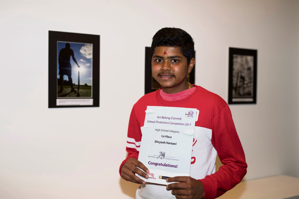 Divyesh Varsani with his winning PhotoVoice entry.
