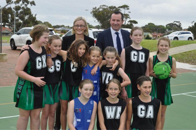 Bicton MLA Lisa O'Malley and Premier Mark McGowan visited Frank Gibson Park to announce a $1.8 million upgrade.