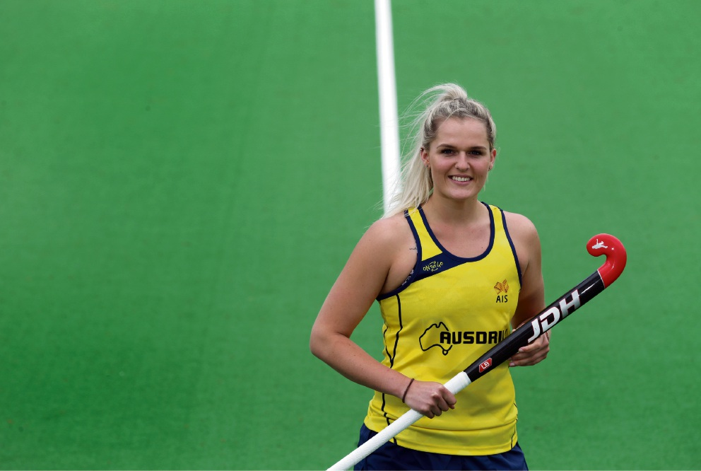 Aleisha Power was brought to tears upon learning of her selection to her first Hockeyroos squad. Picture: Martin Kennealey www.communitypix.com.au d475442
