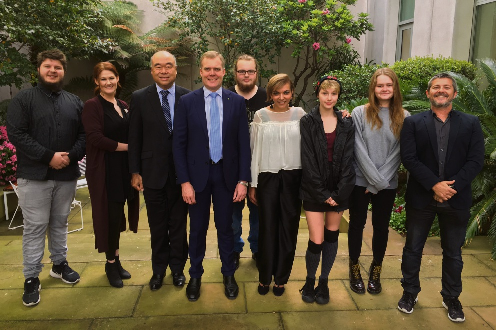 Alta-1 students with Federal MPs Ian Goodenough and Anne Aly in Canberra.