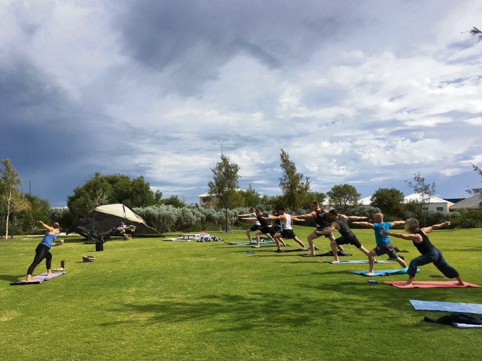 Jamie Hussey is running outdoor yoga sessions in Clarkson.