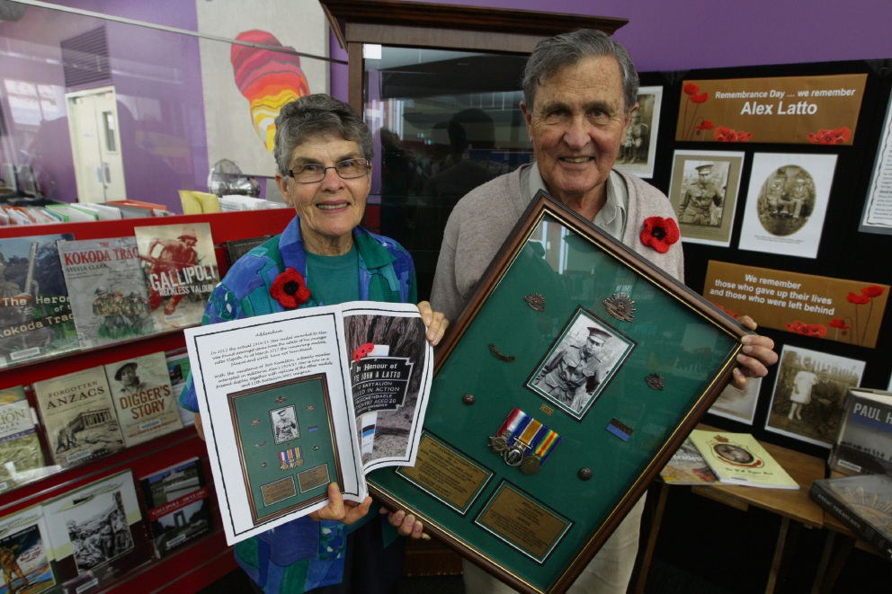 Midland soldier's life remembered at library