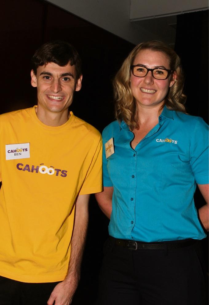 Ben Cox and Jess Karlsson.