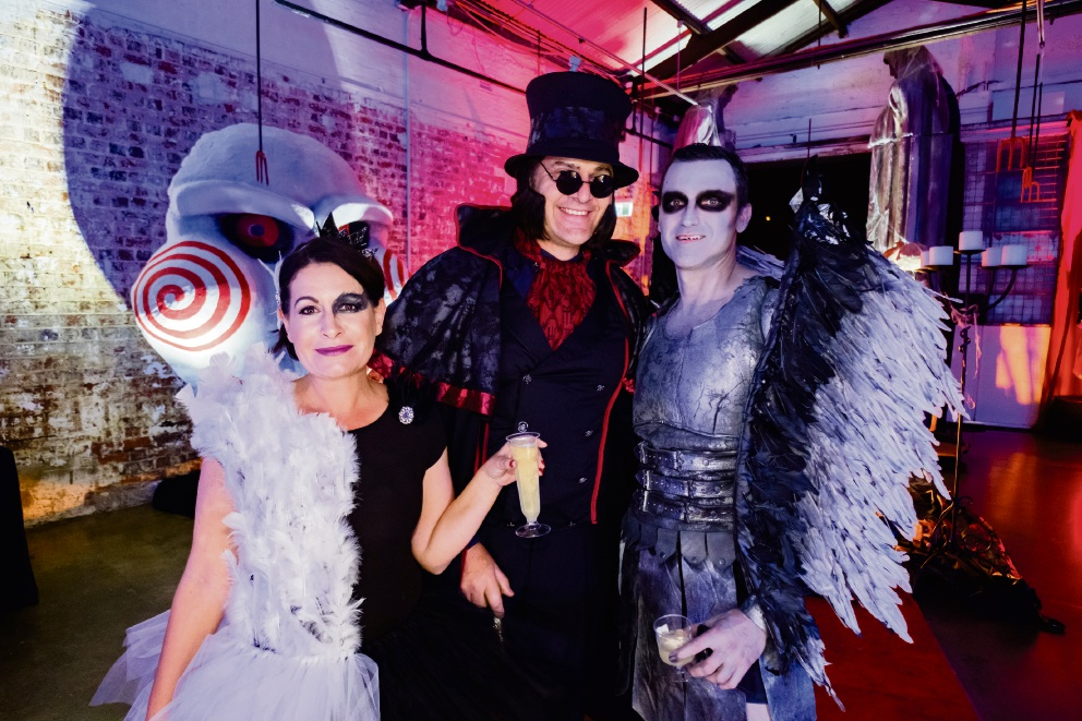 Perth MLA John Carey (right, in costume) at his weekend Halloween party fundraiser.