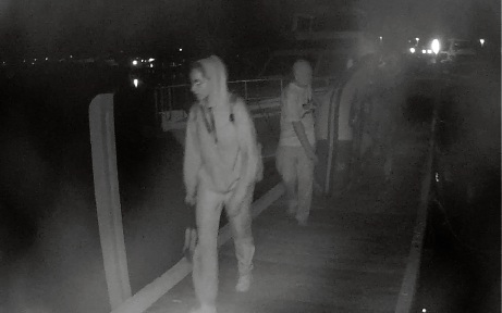 CCTV capture the theft of a dinghy at Pier 21.