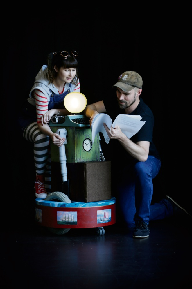Arielle Gray and Matt Edgerton with Olivetti. Picture: Andrew Ritchie