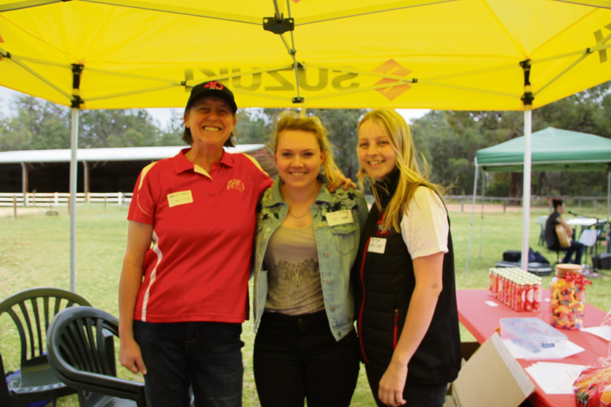 Janette Hatch, Imogen Calverley and Ally Fryer.