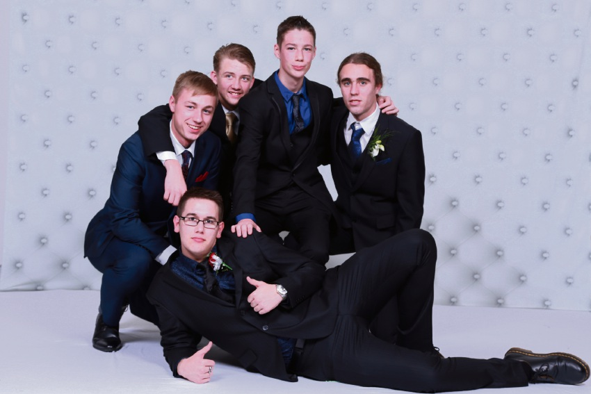 Back: Joshua Beesley, Declan Waslin-Kyne, Ethan Chard, Matthew Clark. Front: Levi Manlein. Picture: 3p Photography
