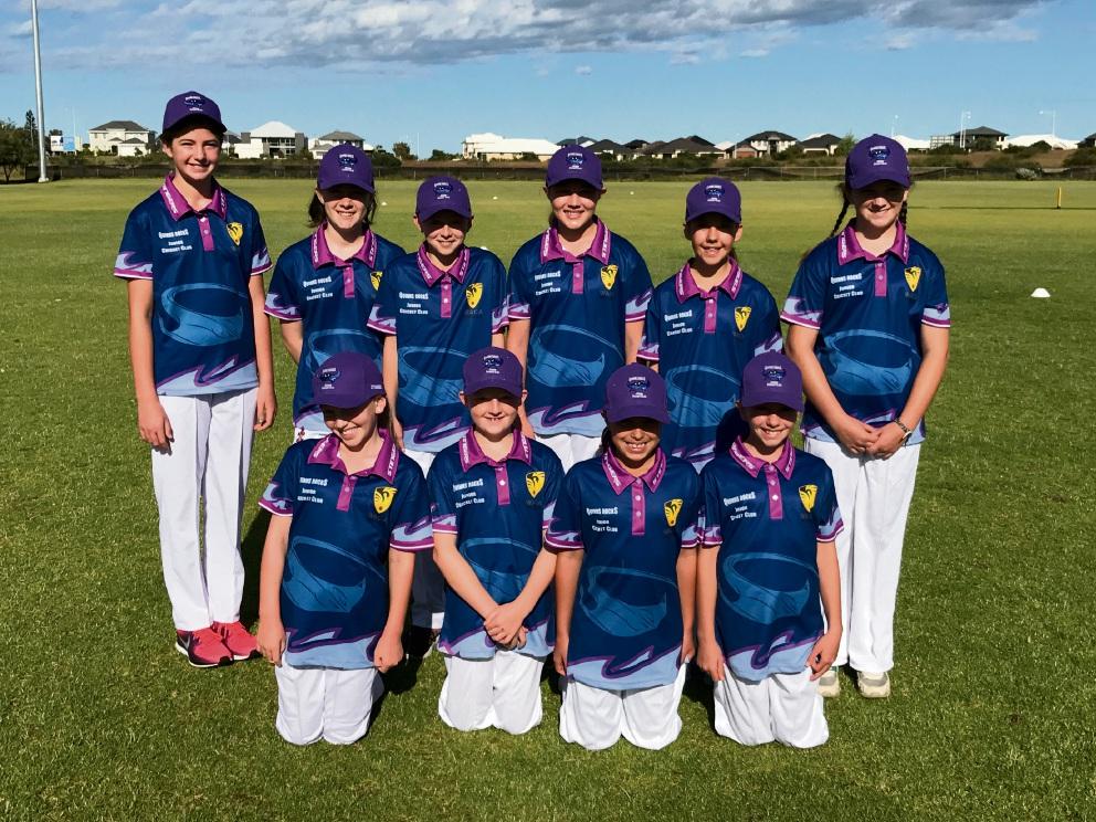 Quinns Rocks Junior Cricket Club's inaugural girls team.