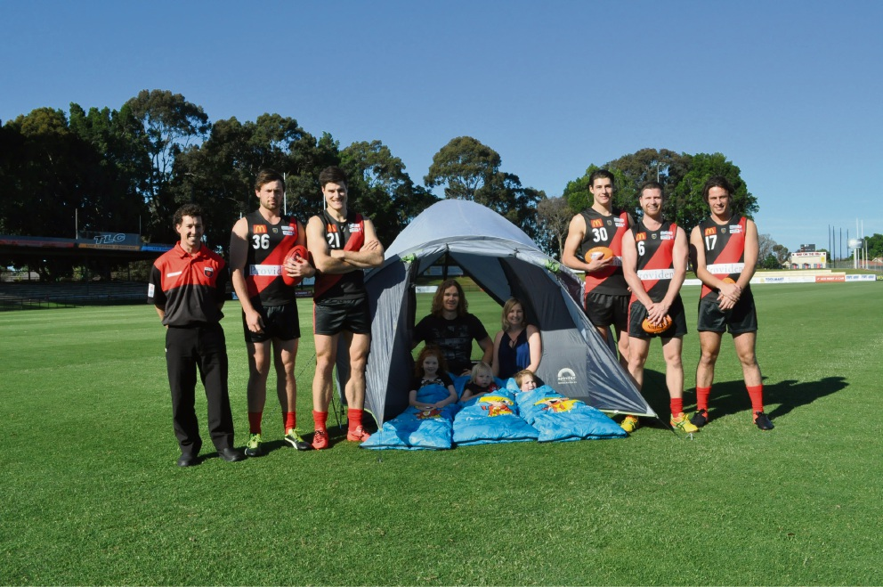 Demons players and the Higgs family are coming together for the Friends of Finlay Camp Out at Lathlain Park.