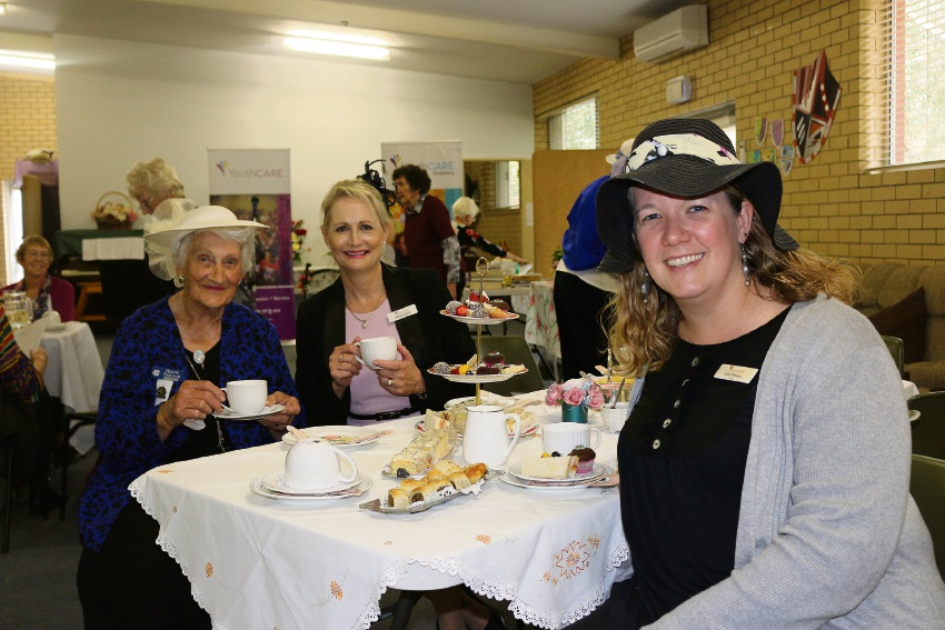 Helen Treloar, Natalie Chiera and Kelmscott PS chaplain Liesl Theaart were among more than 60 attendees enjoyed a Country Women's Association high tea in Kelmscott recently.