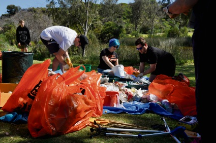 Volunteers collected 85kg of rubbish in Hillarys.