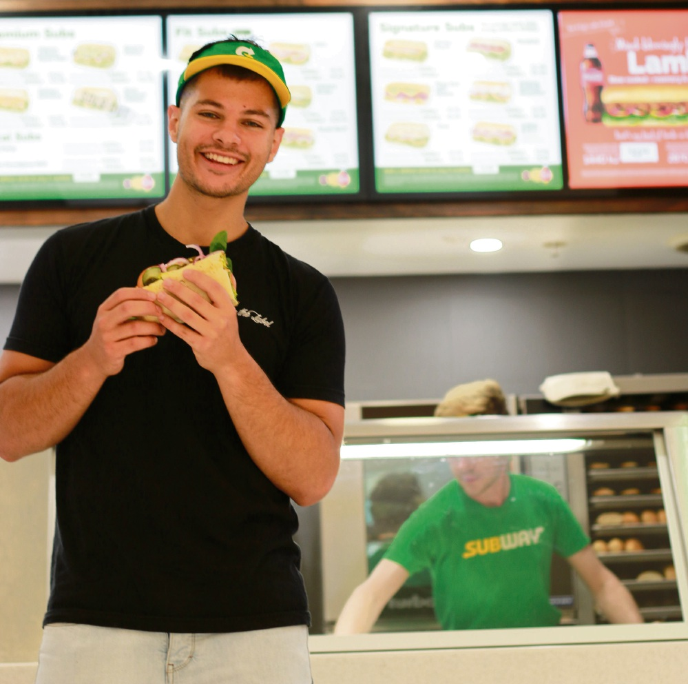 Former MKR contestant Jordan Bruno will be in Joondalup to promote World Sandwich Day.