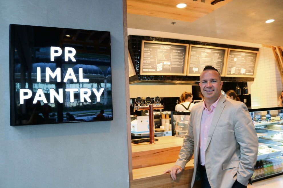 Troy Pickard in front of Primal Pantry.