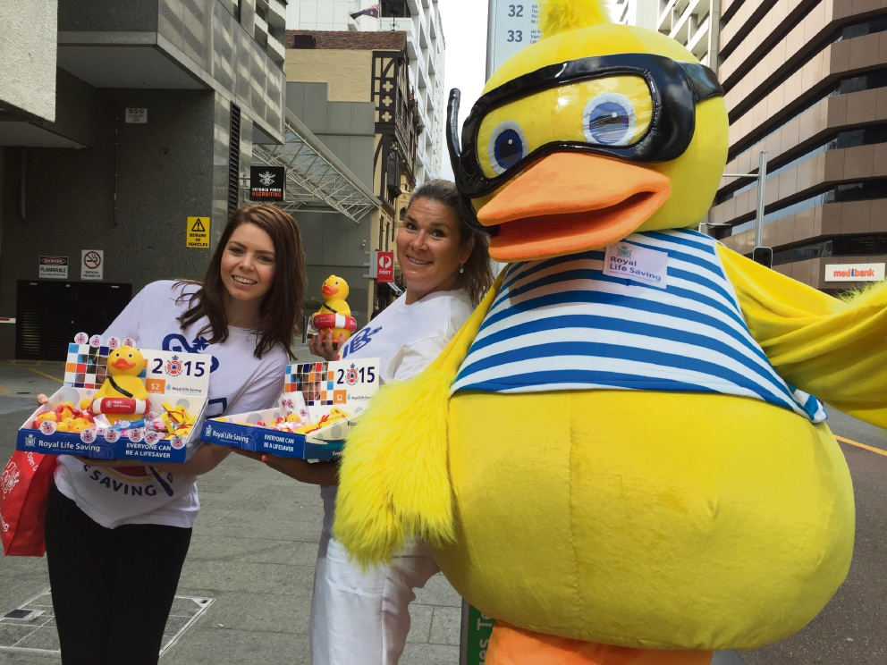 Dippy Duck and Royal Life Saving Society WA volunteers will be fundraising in the city on November 3.