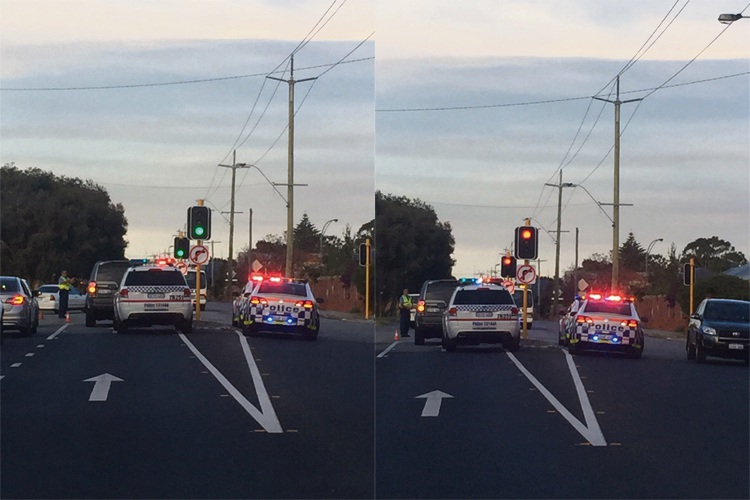 Police at the scene of the Maylands crash. Pictures: Kathy Ociepa.