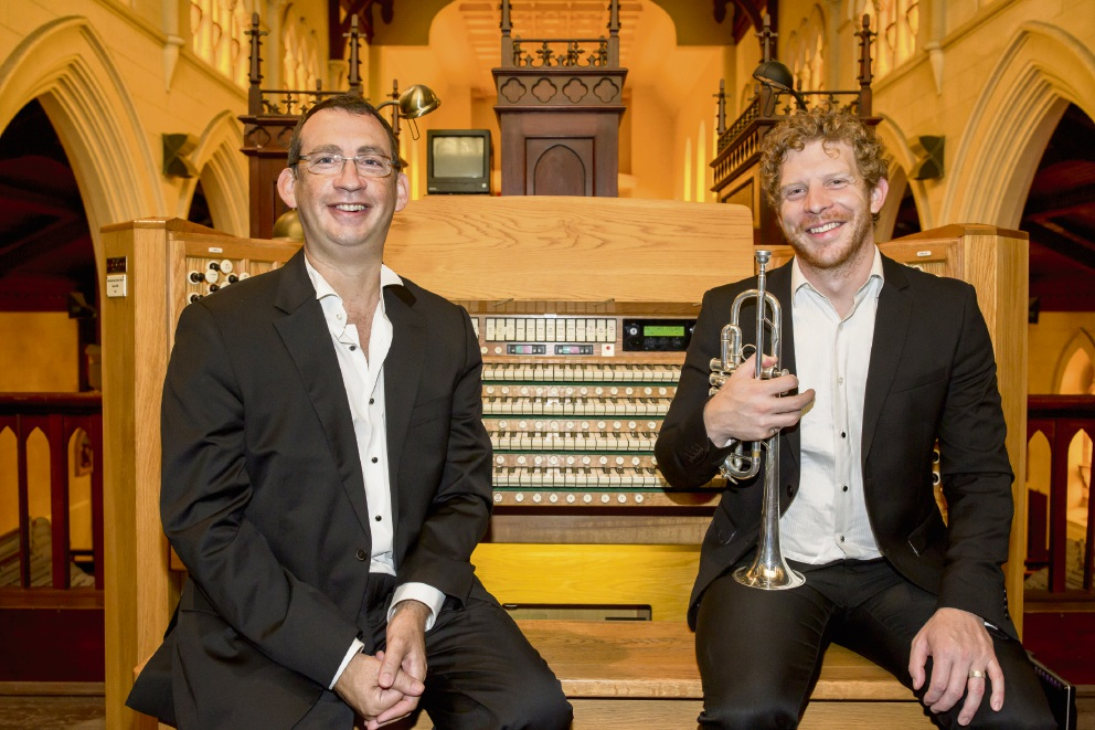 Beaconsfield's Brent Grapes, principal trumpeter with the West Australian Symphony Orchestra, will join Palmyra organist Dominic Perissinotto in a concert inspired by the 12 stained glass Chagall Windows in Israel