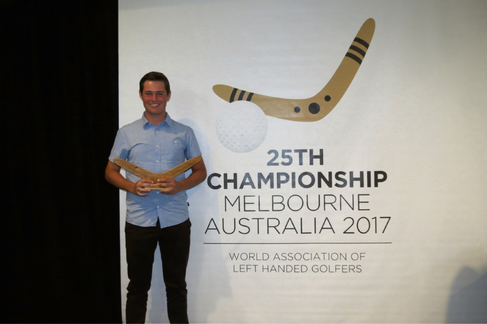 John Boulton can lay claim to being the world's best left-handed golfer.