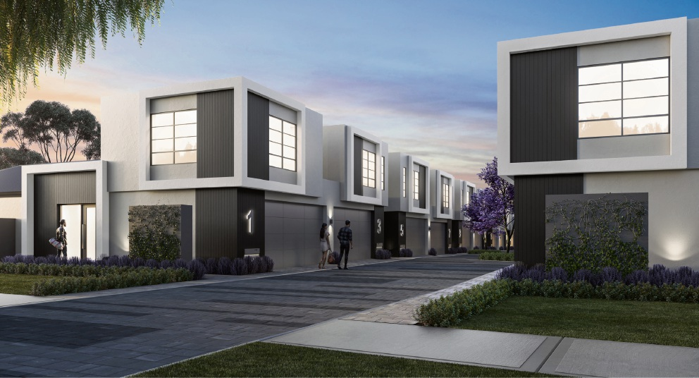 Artist's impressions of the $7.5 million, 28 townhouse development.