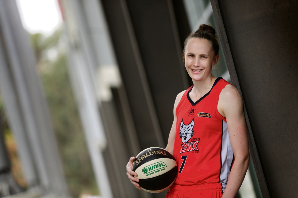 Perth Lynx's Toni Farnworth.