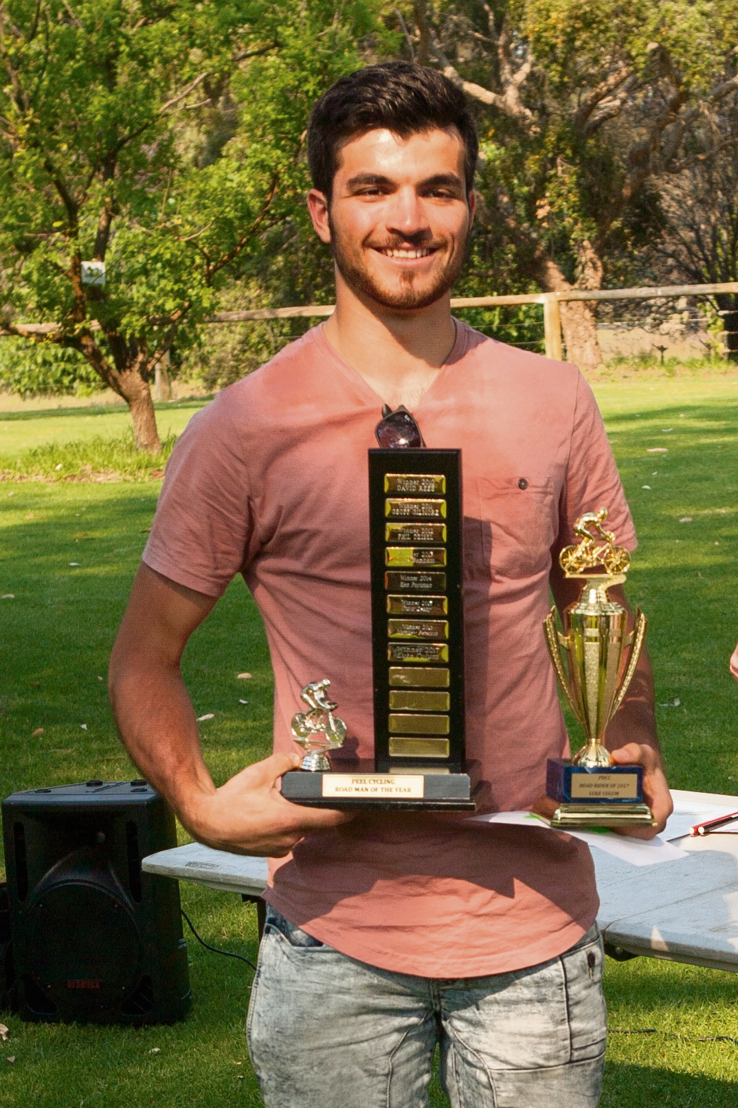 Luke Colum winners of Road Rider of the year as well as B grade Road Race and C grade Criterium Champion.