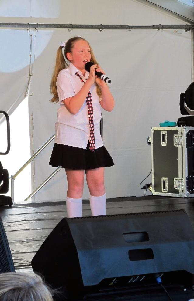 Talent show performer Morgan as Matilta.