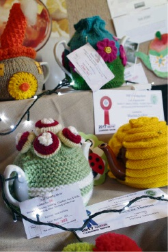 Some of the award-winning sewing and knitting display. Picture: Hilary Radowick