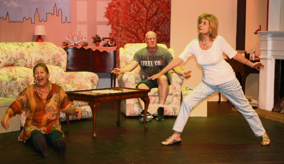 Sally Boteler, Peter Neaves and Janet Brandwood during rehearsals.