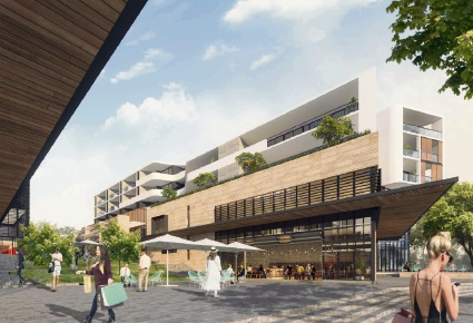 An artist's impression of the Endeavour Precinct.