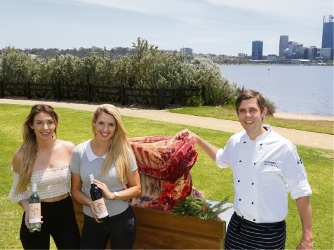 TWINNS owners Michael (left) and Sharon Marsh with Food Graffiti chef Ben Kenward. Picture: Bronwyn Donovan