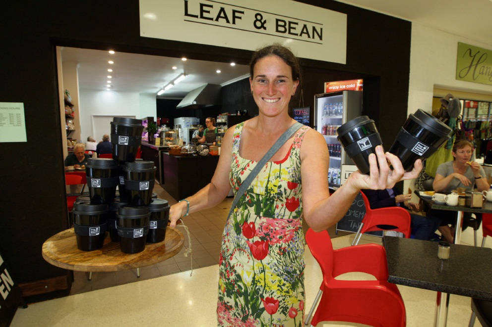 Mundaring in Transition member  Vanessa Charlton at Leaf & Bean cafe. Picture: Bruce Hunt d475829