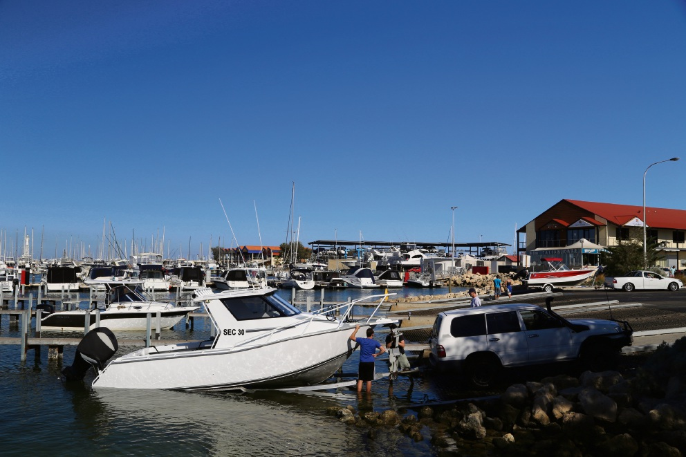 Boats at Hillarys boat ramp. Picture: Department of Transport