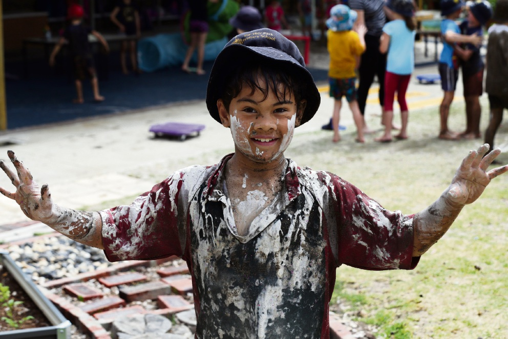 Hawker Park PS students get down and dirty at annual mud day