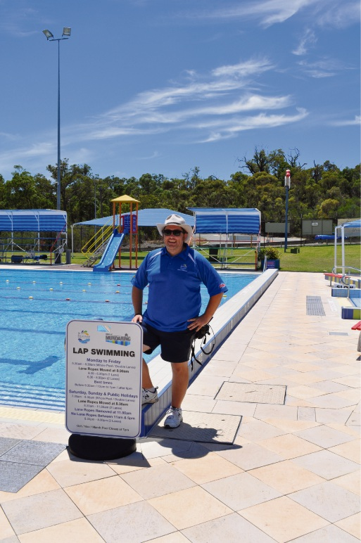 Bilgoman Pool assistant manager Tim Blankley. Picture: Supplied
