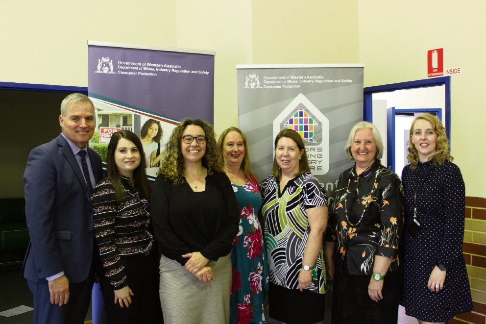 Swan Hills MP Jessica Shaw with staff from Consumer Protection at the event.
