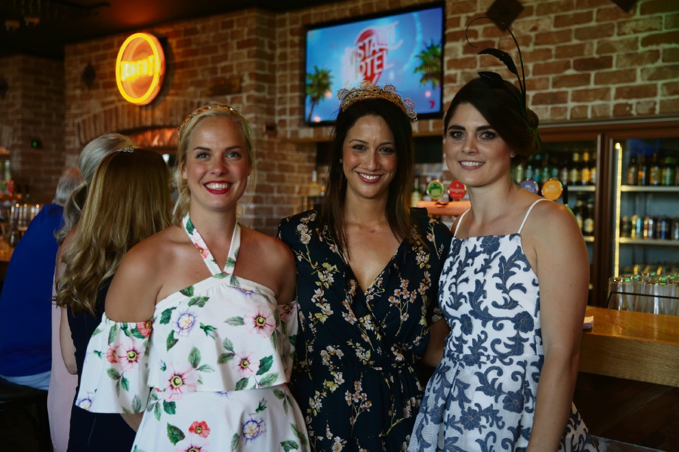 Amelia Gustner, Amie Cantrill and Jessica Bratich-Johnson at Whitford Brewing Company.