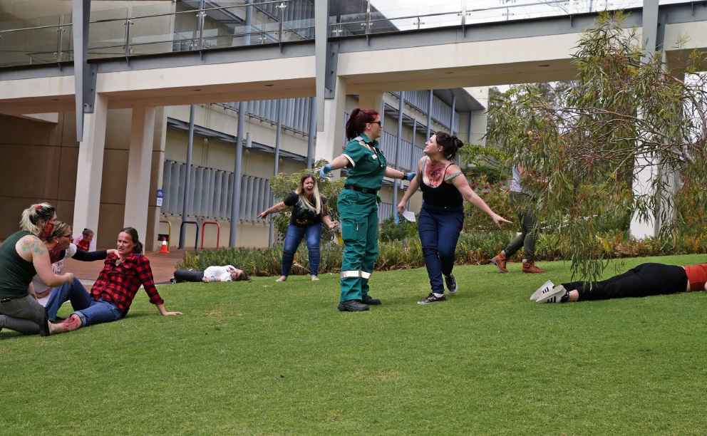 ECU Joondalup emergency simulation has students on high alert