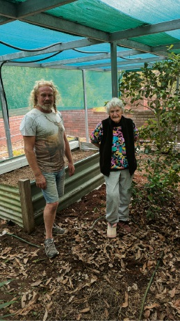 David Best with Audrey in her Swan View garden.