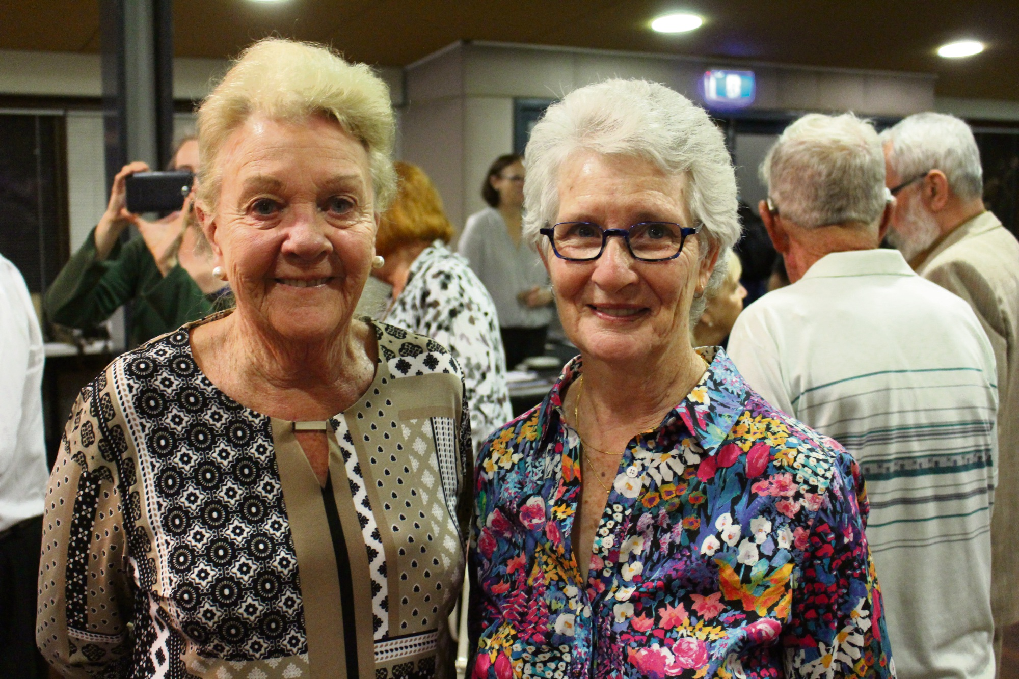 Former Subiaco Mayor Heather Henderson and current Deputy Mayor Judith Gedero.