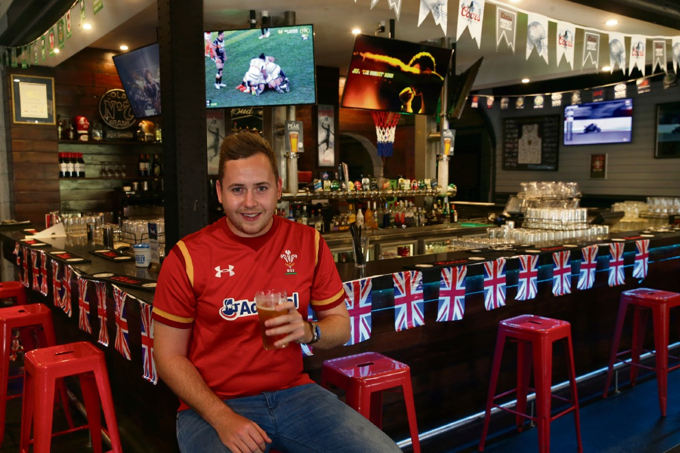 Scott Donovan of Mullaloo has organised Our Land Down Under at The Game Sport Bar. Picture: Martin Kennealey d476263