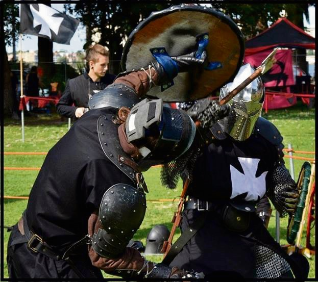 Medieval knights in combat. Picture: Supplied