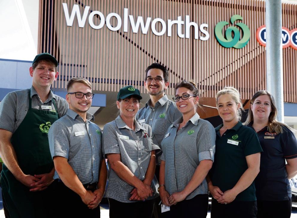Woolworths Banksia Grove staff Warren, Lewis, Jude, Craig, Alex, Debbie and Sarah. Picture: Martin Kennealey d476360