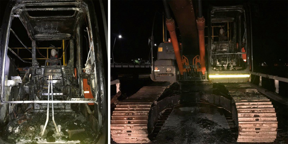 Police hunting for Mandurah arsonist who destroyed excavator