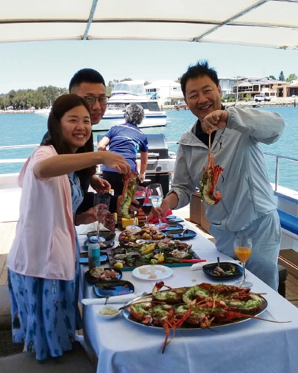 Mandurah Cruises now hosts cray fishing tours. Picture: Supplied.
