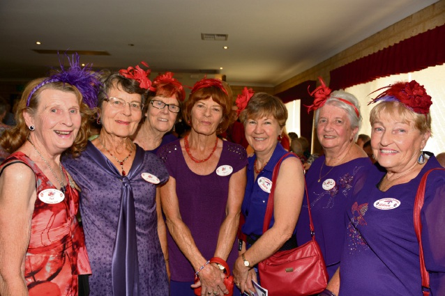 Ladies from the Warnbro Red Hat Club The Raspberry Ripples at opening night.