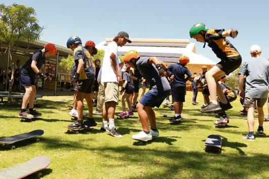 City of Gosnells hosting skate clinics at local primary schools to promote skate facilities